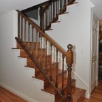 Wood staircase and banister