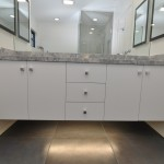 Bathroom Cabinetry with accent lighting