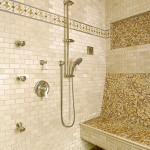 mullti head shower with mosaic tile