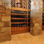 wine cellar at tuscan style home