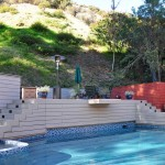 Trex deck around pool