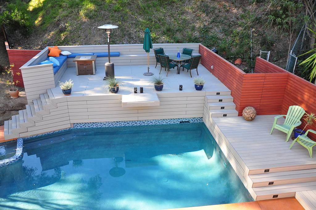 Encino Hillside Pool And Deck Xlart Group